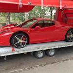 sportkocsik, versenyautók szakszerű szállítása