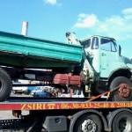 platós teherautó mentés